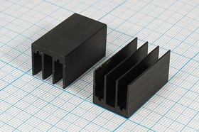 Ребристый радиатор чёрного цвета, 13837 охладитель 30x 17x 16\F07\\Al\чер\HS213-30\