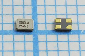 кварцевый резонатор 25МГц в корпусе SMD 1.6x1.2мм 25000 \SMD01612C4\ 8\ 10\ 30/-40~85C\SMD1612\1Г