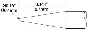 Картриджи-наконечники для CV-UFT, конус, 0.4х8.7мм (комплект)