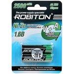 ROBITON 2500NZAA-2 Ni-Zn AA 2500мВтч, 1500мАч BL2, Аккумулятор