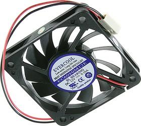EC6010M12EL, Вентилятор 12В, 60х60х10мм , подш. самосмазывающийся, 4000 об/мин
