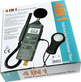DVM401, Измеритель 4 в 1 (освещенность, температура, влажность, шум)