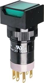 P16LMS2-1abKG, Кнопка с LED подсветкой 250В/5А