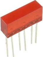 L-845/3SRDT световая полоса красная 5х16мм 10мКд