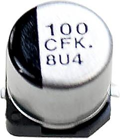 Фото 1/6 EEEFK1C101P, ЧИП электролит.конд. 100мкф 16В 105гр, 6.3x5.8(D