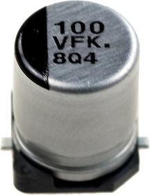 Фото 1/5 EEEFK1V101P, ЧИП электролит.конд. 100мкф 35В 105С 8x10.2(F) 2000h