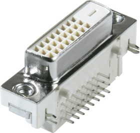 DVI 24+1(JDB-241) (DS1090 VN0S), Розетка DVI на плату угловая (OBSOLETE)