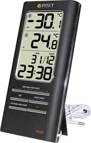 02309, Цифровой термометр дом/улица, часы
