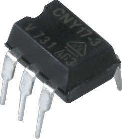 Фото 1/4 CNY17-3, Оптопара с высоким выходным напряжением пробоя, с транзисторным выходом [DIP-6]