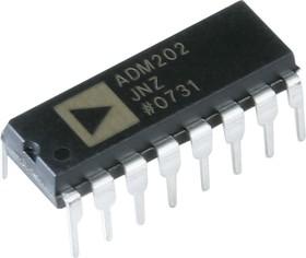 Фото 1/2 ADM202JNZ, Высокоскоростной приемопередатчик RS-232 [DIP-16]