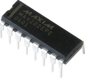 Фото 1/2 MAX202EPE+, Приемопередатчик интерфейса RS-232 с внешними конденсаторами 0.1мкФ
