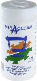 24099  Miraclean , Салфетки влажные чистящие для мониторов и телевизоров (туба)