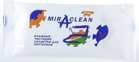 24132  Miraclean , Салфетки влажные в мягкой упаковке для ноутбуков