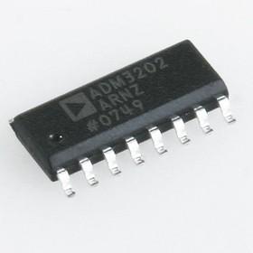 Фото 1/3 ADM3202ARNZ, Маломощный двухканальный приемопередатчик интерфейса RS-232 [SO-16]