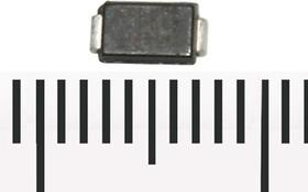 Фото 1/3 SMAJ10CA-TR, Защитный диод двунаправленный, 400Вт, 10В, [SMA / DO-214AC]
