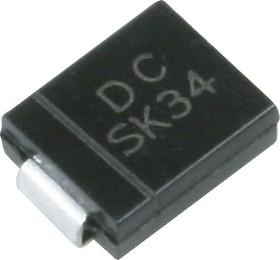 SK34, Диод Шоттки 3А 40В [SMC / DO-214AB]