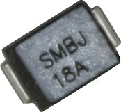 SMBJ18A, Защитный диод, 600Вт, 18В, [SMB / DO-214AA]