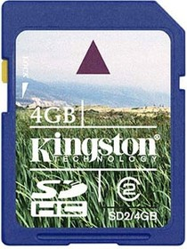 SD2/4GB, Карта памяти SDHC, класс 2, 4ГБ