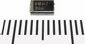 SMAJ30A, Защитный диод, 400Вт, 30В, [SMA / DO-214AC]