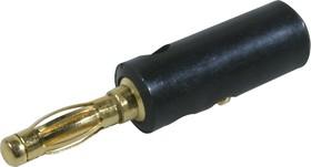 BP-214 (10-0015 GOLD black), Штекер-банан черный (зол.).