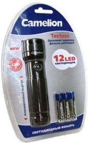 LED5108-12 (фонарь, титан, 12 LED, 3XR03 в комплекте, алюм., блистер)