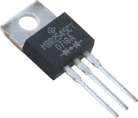 Фото 1/3 MBR2545CTG, Diode Schottky 45V 30A 3-Pin(3+Tab) TO-220AB Tube