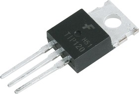 Фото 1/3 TIP120TU, Транзистор NPN Darlington, 60В, 5A, 2000mW, [TO-220]