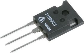 Фото 1/8 SPW11N80C3FKSA1, Транзистор, N-канал 800В 11А 450мОм [TO-247]