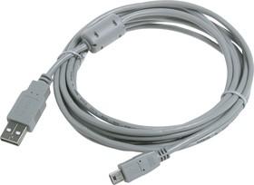 BW1421, Шнур мультимедийный USB2.0 A вилка - Mini USB B(5P) вилка, 3м