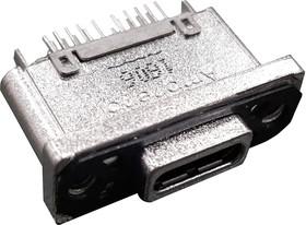 Фото 1/2 MUSBR-M5C1-M0, Герметичный разъем USB, USB Типа C, USB 3.1, Гнездо, 24 Позиции, Монтаж в Панель, IP67
