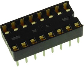DILB16P223TLF, ИС и гнездо компонента, 16 контакт(-ов), Гнездо DIP, 2.54 мм, 7.62 мм, Медный Сплав