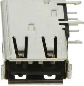 73725-1110BLF, USB CONN, 2.0 TYPE A, RECEPTACLE, THT