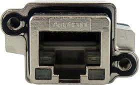 MRJR638101, Модульный разъем, RJ45 Jack, 1 x 1 (Port), 8P8C, Монтаж в Панель