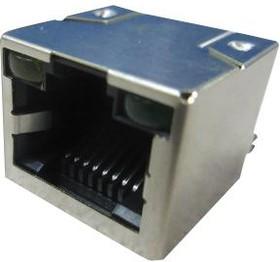 RJHSE-N381, Модульный разъем, RJ45 Jack, 1 x 1 (Port), 8P8C, Cat5, Монтаж в Сквозное Отверстие