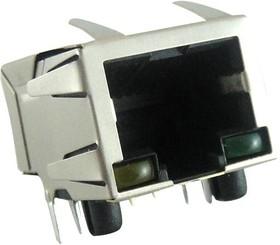 Фото 1/2 RJSBE-5381-C1, Модульный разъем, угловой, RJ45 Jack, 1 x 1 (Port), 8P8C, Cat3, Монтаж в Сквозное Отверстие