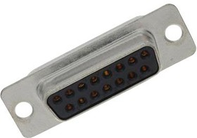 L77SDA15S, Разъем D Sub, DB15, Standard, Гнездо, SD Series, 15 контакт(-ов), DA, Solder Cup