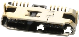 Фото 1/3 GSB343K33HR, Разъем USB, Micro USB Типа B, USB 3.0, Гнездо, 10 вывод(-ов), Поверхностный Монтаж, Прямой Угол