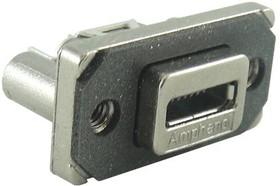 Фото 1/2 MUSB-K552-30, Разъем USB, Micro USB Типа AB, USB 2.0, Гнездо, 5 вывод(-ов), Монтаж в Панель, Вертикальный