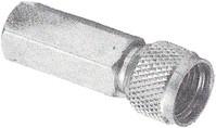 HYR-0718 (mini UHF-7602S) (GMU-718), Разъем mini UHF, штекер, вкручивающийся (Twist-on)
