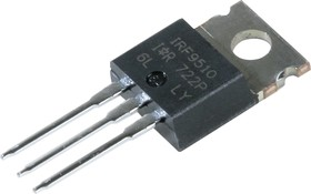 Фото 1/3 IRF9510PBF, Транзистор, P-канал 100В 4А [TO-220AB]