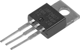 Фото 1/3 IRF2807PBF, Транзистор, N-канал 75В 82А [TO-220AB]