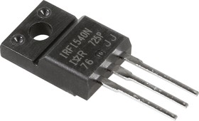 Фото 1/2 IRFI540NPBF, Транзистор, N-канал 100В 20А [TO-220FP]