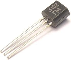 КТ3102ГМ, Транзистор NPN 20В 0.2А 0.25Вт 200Мгц TO92 (КТ-26)
