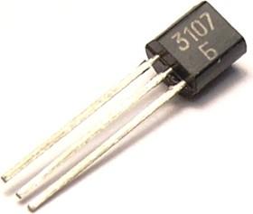 КТ3107Б (2016г), Транзистор PNP 50В 0.1А 0.3Вт 250Мгц TO92 (КТ-26) (BC308A)