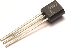 КТ3107Е, Транзистор PNP 25В 0.1А 0.3Вт 250Мгц TO92 (КТ-26)