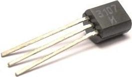 Фото 1/2 КТ3107И (BC307B), Транзистор PNP 50В 0.1А 0.3Вт 250Мгц TO92 (КТ-26)