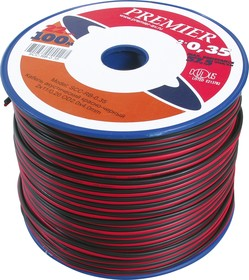 SCC-RB-0.5, Кабель акустический 2x0.5кв.мм. (красный/черный)