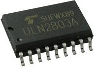 Фото 1/3 ULN2803AFWG, Матрица из восьми транзисторов Дарлингтона, 500мА, 50В, [SO-18]