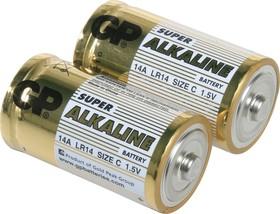 Фото 1/9 14A(A343/LR14/C)2, Элемент питания алкалиновый Super (2шт) 1.5В