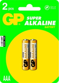 24A (A286/LR03/AAA)2, Элемент питания алкалиновый Super (2шт) 1.5В